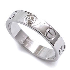 Cartier 18K White Gold MIni Love Ring Size 4