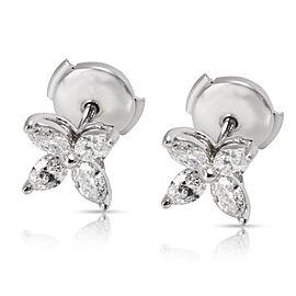 Tiffany & Co. Victoria Platinum Diamond Stud Earrings
