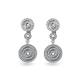 Bulgari 18K White Gold Diamond Astrale Earrings