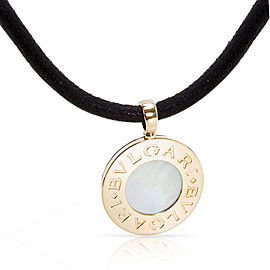 Bulgari 18K Yellow Gold, Stainless Steel Mother Of Pearl, Pearl Necklace