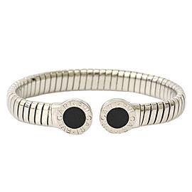 Bulgari Stainless Steel Onyx Bracelet
