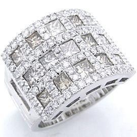 Damiani White Gold Diamond Ring Size 5.75