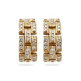 Cartier Earrings 18K Yellow Gold Diamond