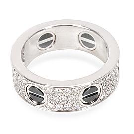 Cartier 18K White Gold Diamond Ring Size 6