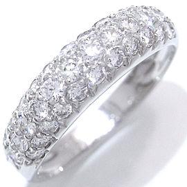 Van Cleef & Arpels White Gold Paved Diamond Ring