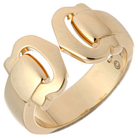 Cartier 18 K YG 2C Ring Size 4.75