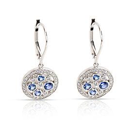 Tiffany & Co. Platinum Sapphire, Diamond Earrings