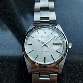 Rolex OysterDate Precision 6694 35mm Mens Watch