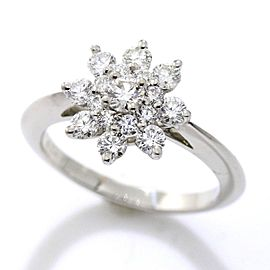 TIFFANY Co. Platinum Diamond Ring Size 4.5