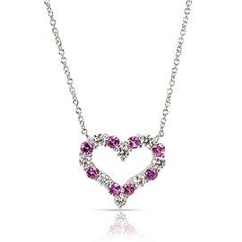 Tiffany & Co. Platinum Sapphire, Diamond Necklace