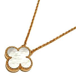 Van Cleef & Arpels YG Shell Vintage Alhambra Necklace
