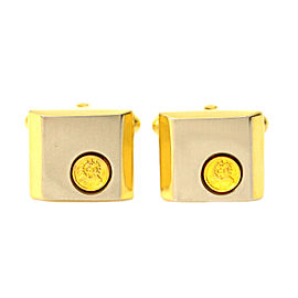 Christian Dior Gold and Silver Tone Hardware Cufflinks