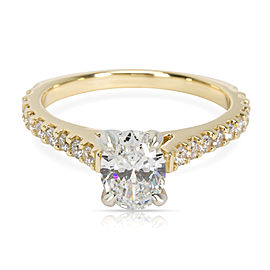 14K Yellow Gold Diamond Engagement Ring Size 5.75