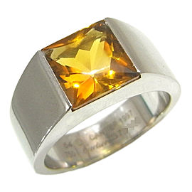 Cartier White Gold Citrine Ring Size 6.75