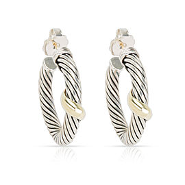 David Yurman 14K Yellow Gold, Sterling Silver Earrings