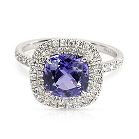 Tiffany & Co. Platinum Diamond, Tanzanite Ring Size 6.5