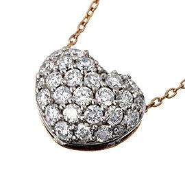 Ponte Vecchio 18K WG/ RG Heart Diamond Pendant Necklace