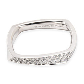 Tiffany & Co. 18K White Gold Diamond Ring Size 9.5