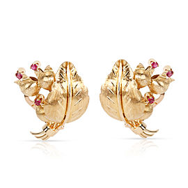 Tiffany & Co. 18K Yellow Gold Ruby Earrings