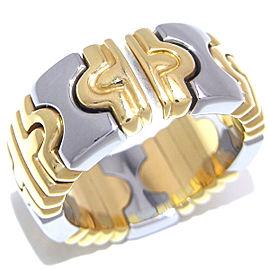 Bulgari YG, Stainless Steel Ring Size 4.75