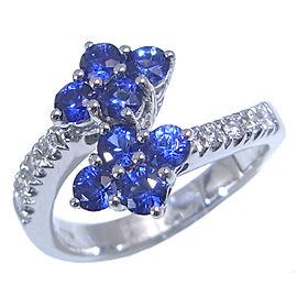 Damiani WG Sapphire Ring Size 5.75