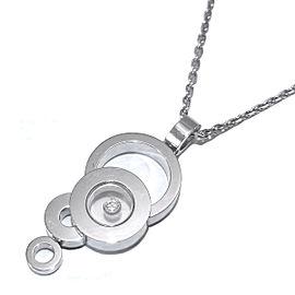 Chopard White Gold Happy Diamond Necklace