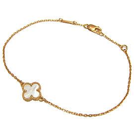 Van Cleef & Arpels YG White Shell Sweet Alhambra Bracelet