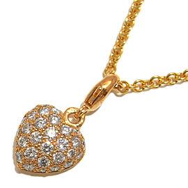Cartier YG Pavé Heart Diamond Necklace