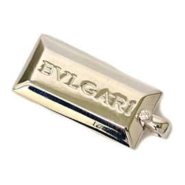 Bulgari 18K White Gold Ingot Pendant