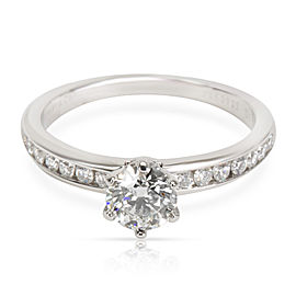 Tiffany & Co. Diamond Engagement Ring in Platinum G VS1 0.76 CTW