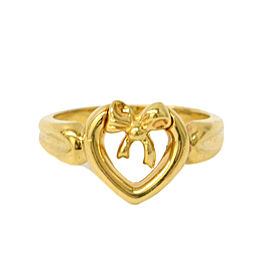 Tiffany & Co. 18K Yellow Gold Heart Ring Size 5