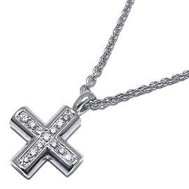 Bulgari WG Greek Cross Diamond Necklace