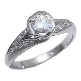 Bulgari Platinum Diamond Ring Size 4.75