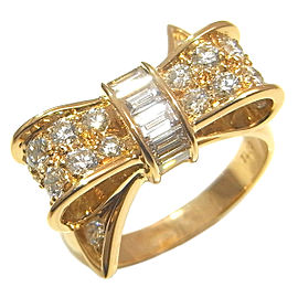 Tiffany & Co. 18K Gold Ribbon Diamond Ring