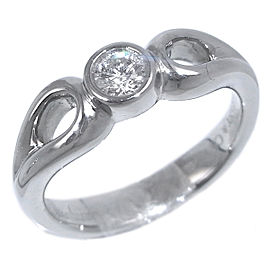 Tiffany & Co. Platinum Double Open Teardrop Diamond Ring Size 5.25