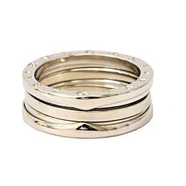 Bulgari 18K White Gold B Zero1 Ring Size 8.5