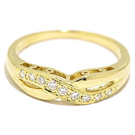 Mikimoto Diamond Ring Size 6.25