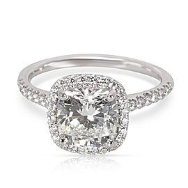 14K White Gold Diamond Engagement Ring Size 5