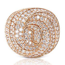 18K Rose Gold Diamond Ring Size 6.25
