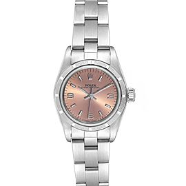 Rolex Oyster Perpetual Salmon Dial Oyster Bracelet Ladies Watch 67230