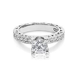 Tacori Platinum Zircon Engagement Ring Size 6.25