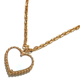 Van Cleef & Arpels YG Shell Heart Sweet Alhambra Necklace