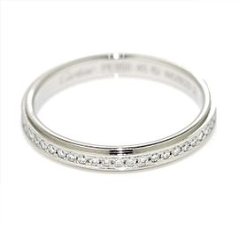 Cartier Platinum Damorour Diamond Ring Size 3.25