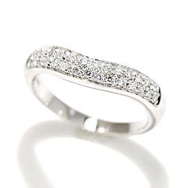 Bulgari Platinum CORONA Diamond Ring Size 4.5