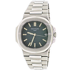Patek Philippe Nautilus Blue Dial Automatic SS Mens Watch 5711/1A Box & Papers
