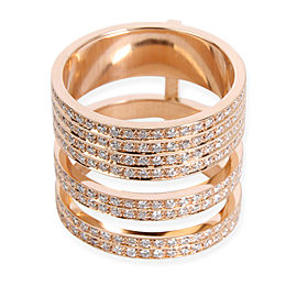 Repossi 18K Rose Gold Diamond Ring Size 5.5