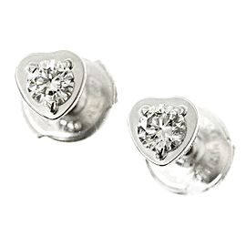 Cartier 18K WG Heart Diamond Earrings
