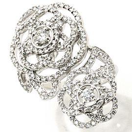 Chanel 18K WG Camelia Diamond Ring Size 6.25