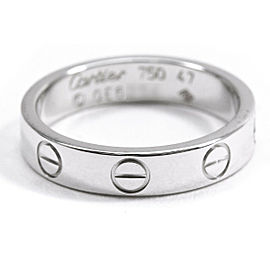 Cartier 18K WG Mini Love Ring Size 4