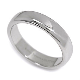 TIFFANY Co. Platinum Classic Band Ring Size 6.75